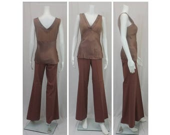 CATHERINE MALANDRINO Two Piece Set Top M Pants 6