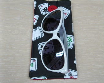 Eye glass case with button closure