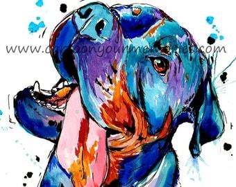 Rottweiler smiling print