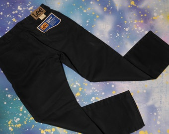 1980's LEE Jeans  Deadstock Black Twill Denim Waist 36