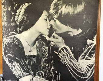 Large Black and White poster of Romeo and Juliet.