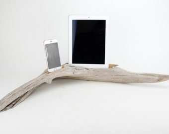 Docking Station, iPad docking station, iPhone Charger, iPhone docking Station, iPad dock, iPad 4, iPad, wood iPhone dock/ Driftwood- No. 965