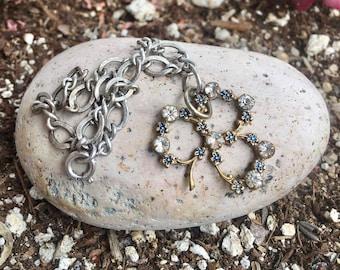 Shamrock Clover Bracelet Antique Charm Victorian Vintage Bridal Irish Ireland