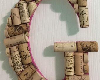 "9.5"" Wine Cork Letter"