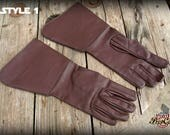 Star wars inspired Jedi leather gloves for guardian knights or evil sith, medieval or sci fi characters in LARP or Ren Fairs