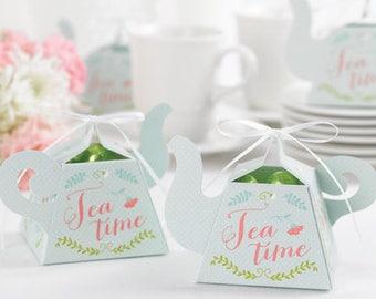 Tea Pot Favor Boxes, Tea Party Favor Boxes, Party Favor Boxes, Bridal Shower Favor Boxes, Bridal Tea Favor Box, Tea Party Favor Boxes