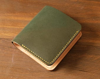 100% Hand-stitched Vegetable Tanned Leather  Wallet/ Card Case