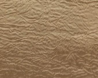 Creased Taffeta Gold 120 Inch Fabric by the Yard - 1 Yard
