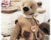 Mr Grizzlypaw. New design, hand sewn artist bear.