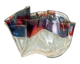 Laurel Fyfe Fazzoletto Slumped Glass Sculpture