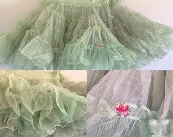 Vintage Green Petticoat