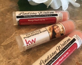 Realtors 99 Personalized Lip Balm, Chapsticks, Promotional, Labels, Stickers, Business, Cards, LOGO, Real Estate, Agent, Stickers, Marketing