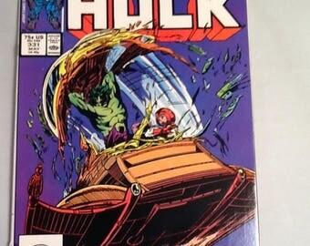 vintage 1987 incredible hulk #331 marvel comic book todd mcfarlane vf+
