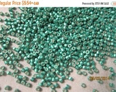 Boxing Week Sale DB-1182, Miyuki Delica Beads, 11/0, Galvanized Semi-Matte Dark Mint Green - 2 grams or, choose a Larger Pkg from the 'Selec