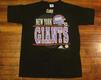 New York Giants shirt - vintage NFL football graphic tee double sided Large