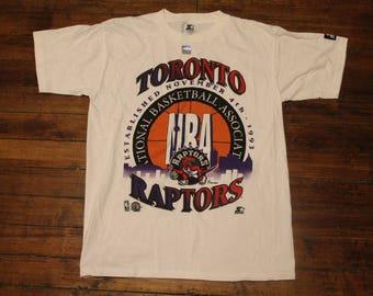 toronto raptors shirt vtg NBA basketball starter tshirt graphic tee deadstock Medium