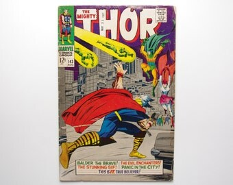 """The Mighty Thor Vol. 1 #143 """"And Soon Shall Come the Enchanters!"""" - F/VF Condition - Marvel Comics 1967"""