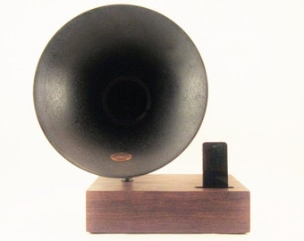 Acoustic Speaker, iPhone Speaker, Atwater Kent Speaker, Wireless Speaker, iPhone Amplifier, iPhone Amp, iPhone Stand, iPhone Dock,