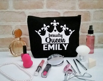 Makeup bag Personalised, make up bag Personalised gift for teen, makeup bag funny, makeup bag Christmas gift for her, birthday gift for her