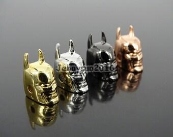 Solid Metal Batman Helmets Masks Bracelet Connector Charm Beads Silver Gold Rose Gold Gunmetal