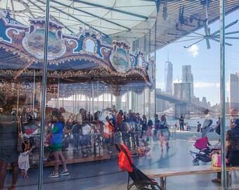 brooklyn bridge park carousel new york photo print