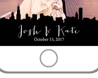Chicago Wedding Snapchat Filter | The Windy City | Chi-town | Personalized Snapchat Filter | Custom | Chicago Skyline