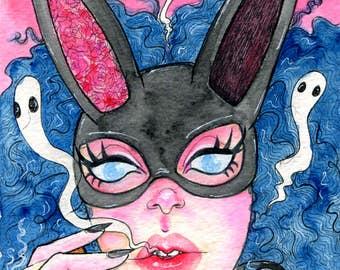 "Original Watercolor 5x7"" - Imogene"
