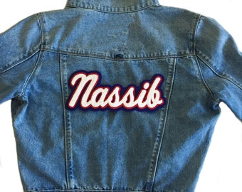 Custom Denim Jacket with Just Name Patch