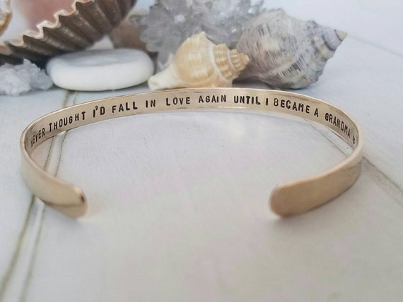 Gold Cuff Bracelet, Personalized gold bracelet, 14kt Gold Filled bracelet, Custom gold bracelet, Cuff bracelet, Hidden message bracelet