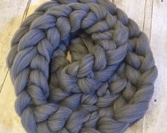 Wool roving Braid gray photo Prop Posing bump stuffer