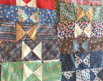 New Vintage 12.5 Inch Square Quilt Blocks   Set of 20
