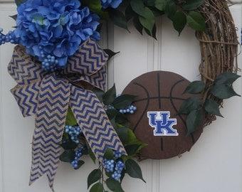 University of Kentucky Wreath, Kentucky Wildcats Wreath, UK Wreath, NCAA Basketball Wreath, UK Wildcats Wreath, Kentucky Basketball