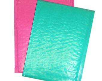 30 Teal and Pink 10.5x15.5 15 each large Bubble Mailers, Size-5 Large Padded Self Adhesive Wholesale Padded Mailer Envelopes