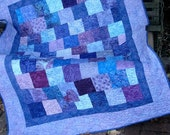 Quilt - Small Lap Quilt - Baby Girl Quilt - Sweetheart Treats Lap Quilt