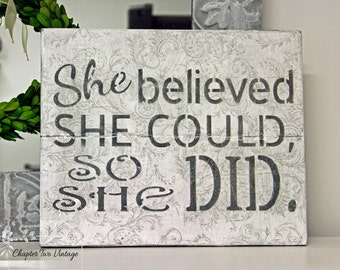 SOLD Reclaimed Wood Sign, Hand Painted Wood Sign , Quote Sign, Shabby Chic Wood sign