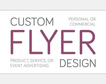 Custom FLYER Design | Personalized Graphic Design | Small Medium Large Oversize | Marketing Advertising Announcement