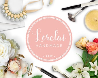 Premade Badge Logo Design | Customized for your Business | Minimalist Doily Border Professional Affordable Shop Branding & Graphic Design