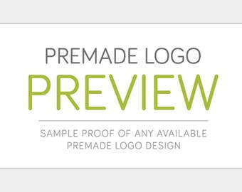 Sample Preview of Premade Logo Design | Customized for your Business | Small Business Branding Watermark Affordable Graphic Design Package