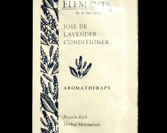 Vintage 1990s Essentiel Elements 0.25 oz Joie de Lavender Conditioner Hair Care Sample Packet