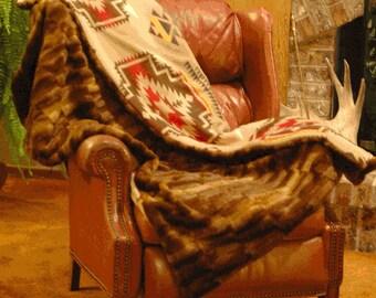 Tribal Beaver Blanket - Medium/Full 5'x4'