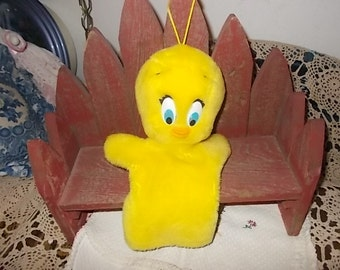 1991  Tweety  Hand Puppet, Cartoons, Puppet,Hand Puppet, /Not Included In Coupon Sale