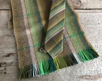 1960s Scottish Wool Scarf and Tie Set, Original Box, Glenspun by Linosair