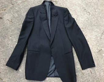 Classic Mr Harry Black Dinner Jacket Suit, Wool Blend, Couture Collection, Made in England