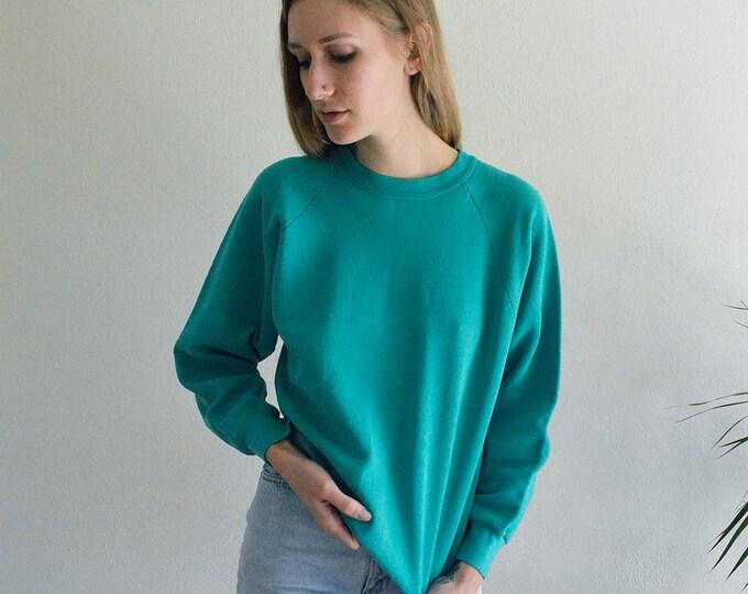 Turquoise Raglan Sweatshirt