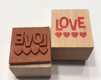 Love, rubber stamp, 20 mm (SB2)