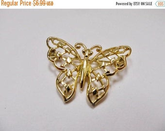 On Sale Vintage Ornate Butterfly Pin Item K # 1101