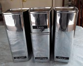 Vintage Chrome Canister Set, Lincoln Beauty Ware, Retro 1950 - 1960s, Set of 4