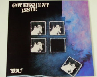 "ON SALE Government Issue - You w/Lyric Sheet - Hardcore Punk - Alternative Rock - ""Jaded Eyes"" - Giant Records 1987 - Vintage Vinyl LP Recor"