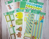 Gone Fishing, fathers day sticker kit for the Erin Condren vertical life planner
