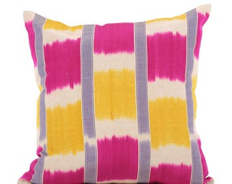 19 x 19 Pillow Cover Ikat Pillow Cover Old Ikat Pillow Cover Throw Pillow Decorative Pillow FAST SHIPMENT with ups or fedex - 09091